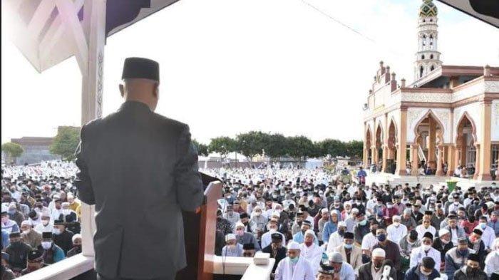 Plt Bupati Bener Meriah Shalat Idul Adha di Masjid Al-Falah