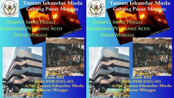 Taman Iskandar Muda Galang Dana untuk Bantu Pedagang Aceh Korban Kebakaran Pasar Minggu