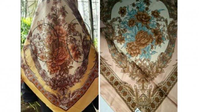 Astaghfirullah! Jilbab Ini Bermotif Gambar Tak Senonoh, Perhatikan Baik-baik Sebelum Membeli