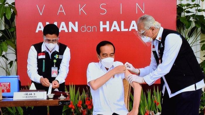 Jadi yang Pertama, Tekanan Darah Jokowi Naik Saat Mau Disuntik Vaksin: Wah, Biasanya 110/70