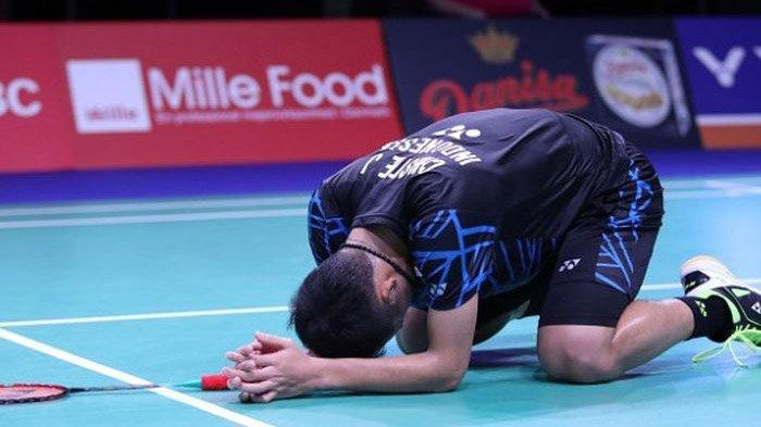 Hasil Semifinal Malaysia Open 2019 - Kalah dari Chen Long, Jonatan Christie Terhenti di Semifinal