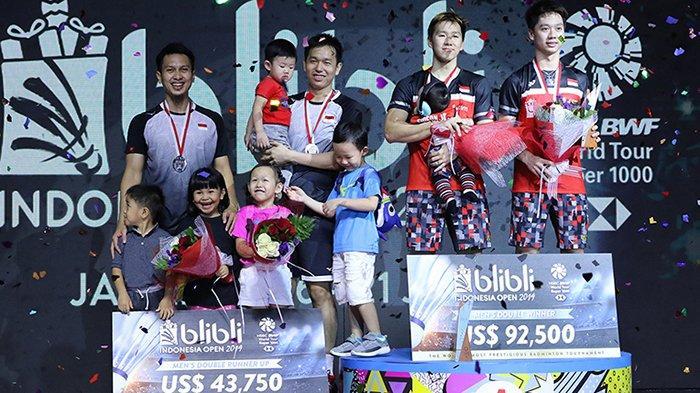 Daftar Juara Indonesia Open 2019 - Kalahkan Ahsan/Hendra, Marcus/Kevin Kampiun dan Pertahankan Gelar