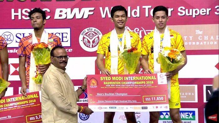 Raih Gelar Juara Syed Modi India, Ini Prestasi dan Capaian Fajar/Rian di Turnamen Badminton 2018
