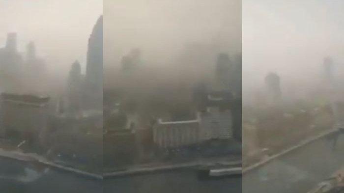 Mengerikan! Kota Wuhan Diselimuti Kabut Tebal hingga Kategori 'Bahaya', Asap Pembakaran Mayat?