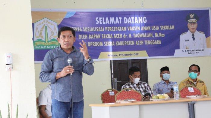 Kadisdik Aceh Ultimatum Kepsek Segera Vaksinasi Siswa, Persilakan Mundur, Jika tak Mampu