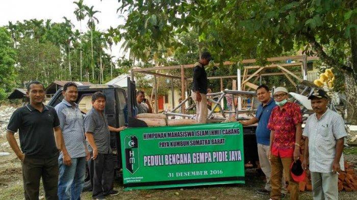 KAHMI Aceh Bantu Bangun Masjid di Pidie Jaya
