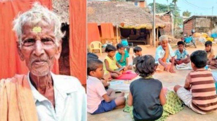 Kakek Putus Sekolah Jadi Guru dan Mengajar Selama 70 Tahun di Desa, Dapat Anugerah dari Pemerintah