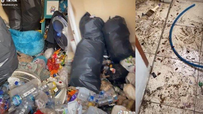 VIRAL Kamar Kos Penuh Tumpukan Sampah, Penghuninya Disebut Jarang Keluar Kamar