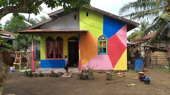 Sambut Ekowisata, Pusongkapal di Aceh Tamiang Disulap Jadi Kampung Pelangi