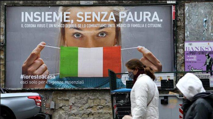 Ledakan Kasus Covid-19 di Italia Capai 5.000 Orang Per Hari