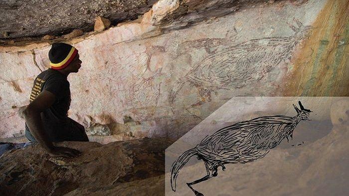 Peneliti Temukan Gua di Australia yang Menyimpan Lukisan Kanguru Berusia Ribuan Tahun