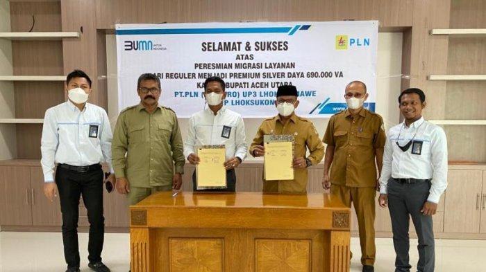 Kantor Bupati Aceh Utara Pakai Layanan Premium Silver PLN, Potensi Pemadaman Sangat Kecil