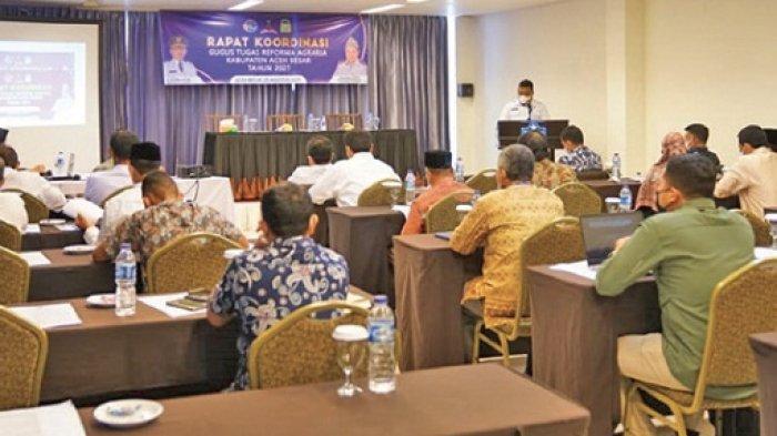 Kantor Pertanahan Aceh Besar Gelar Rakor GTRA