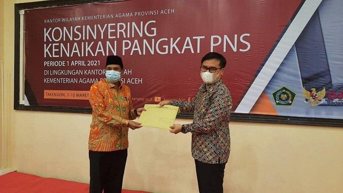 Sinergi Kemenag Aceh dan BKN Konsinyering Kenaikan Pangkat PNS