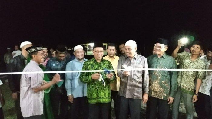 Kakanwil Kemenag Aceh  Resmikan Mushalla MAN 2 Aceh Tamiang