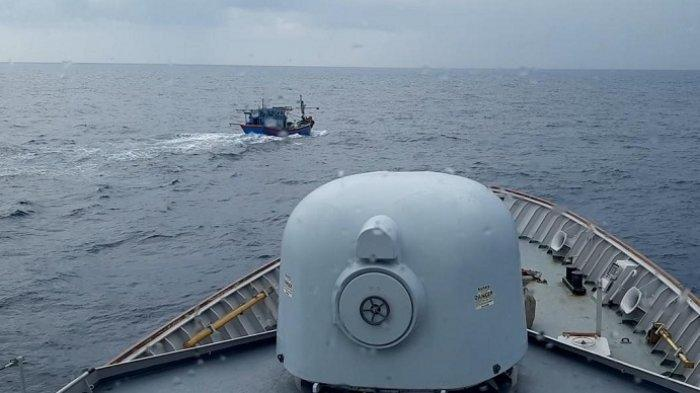 Berusaha Mengelabui Petugas, Kapal Ikan Vietnam di Natuna Utara Kembali Ditangkap