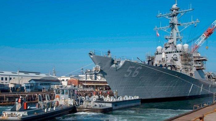 Ketegangan Laut Cina Selatan Meningkat, AS dan Cina Adu Sangat Kapal Perang