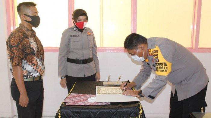 Penerimaan Polri, Polresta Lakukan Penandatanganan Pakta Integritas, Ini Pesan Kapolresta Banda Aceh