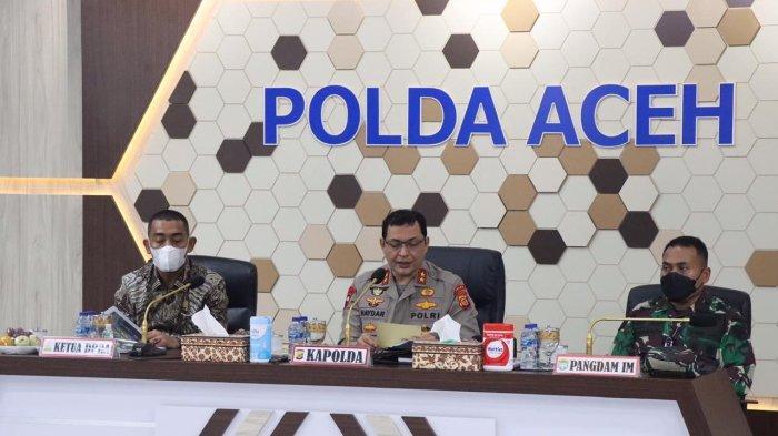 Satgas Covid-19 Aceh Bahas Percepatan Vaksinasi,  Rakor di Polda