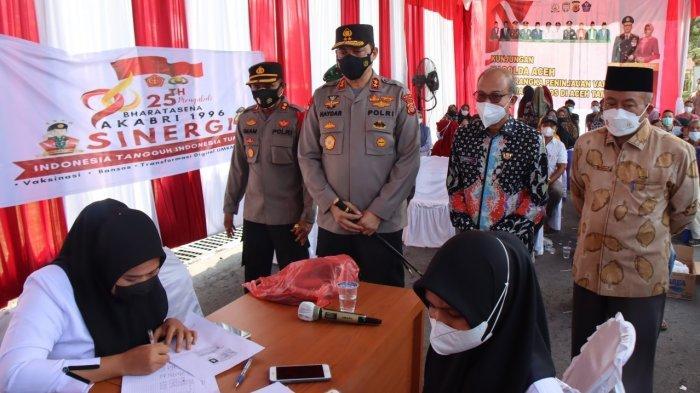 Tinjau Gerai Vaksinasi di Pendopo Bupati Aceh Tamiang, Ini Kata Kapolda