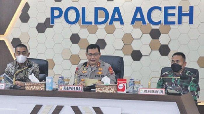 Seluruh Anggota Satgas Covid-19 Aceh Sepakat Percepat Vaksinasi Dalam Rakor di Mapolda
