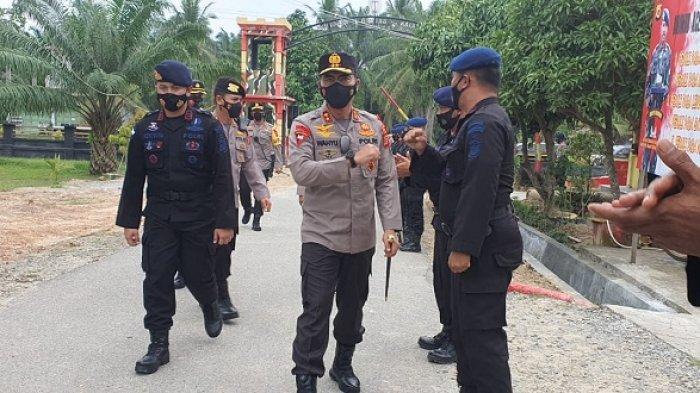 Usai Cek Pos Perbatasan Aceh - Sumut, Kapolda Aceh Singgah ke Mako Brimob Aramiah