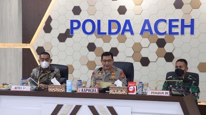 Rakor di Polda, Satgas Covid-19 Aceh Bahas Percepatan Vaksinasi