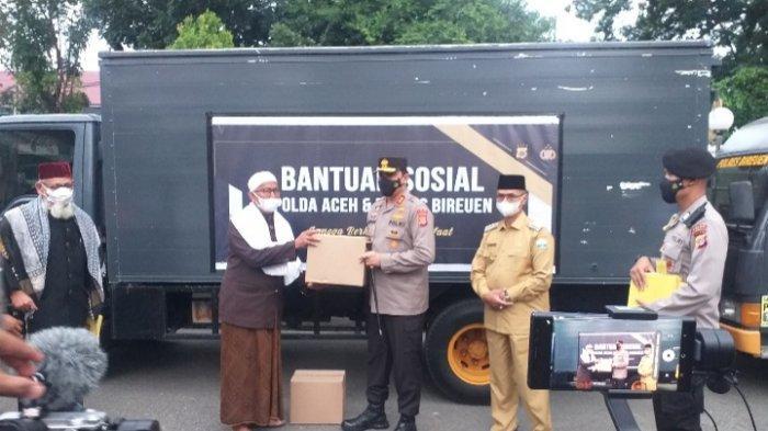 Silaturahmi dengan Pimpinan Pesantren di Bireuen, Kapolda Aceh Ajak Santri Pakai Masker dan Vaksin