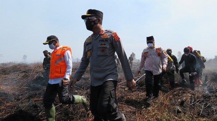 Kapolda Aceh Tegaskan Pembakar Lahan Akan Ditindak, Tinjau Lokasi Karhutla di Nagan Raya