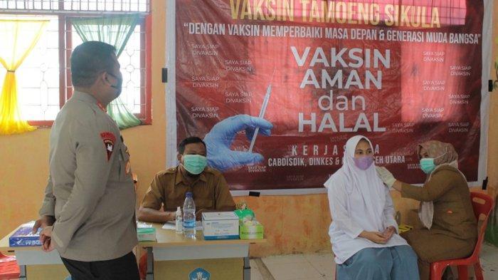 Kapolres Aceh Utara Sampaikan Hal Ini kepada Sekolah yang Sudah Adakan Vaksin