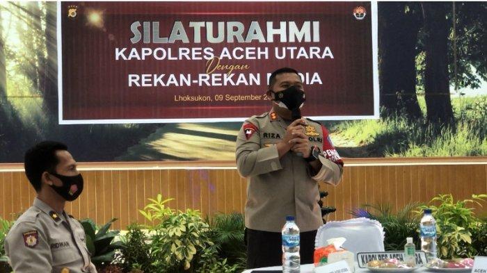 Kapolres Aceh Utara AKBP Riza FaisalSilaturahmi dengan Jurnalis, Sampaikan Pesan Ini