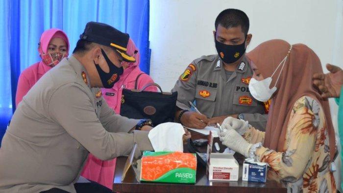 Polres Simeulue Donor Darah Bantu Pasien di Rumah Sakit