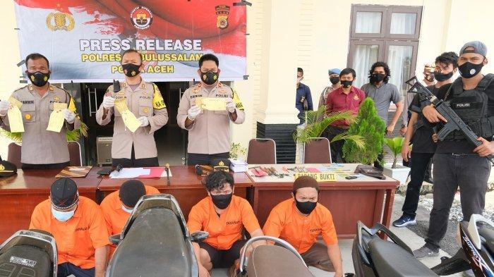 Polisi Ungkap 8 Kasus Narkoba, 10 Tersangka Ditahan