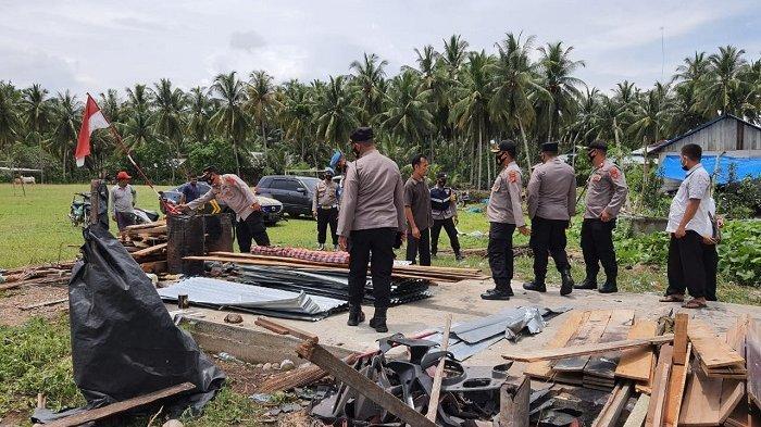 Kapolres Bireuen Tinjau Lokasi Bencana Puting Beliung di Geulanggang Labu