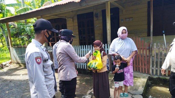 Santuni Anak Yatim, Cara Polisi Kuta Malaka Berbagi di Bulan Ramadhan 1442 Hijriah