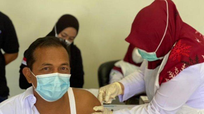 Cegah Covid 19, Karyawan PLTU 1-2 Nagan Raya Ikut Vaksinasi