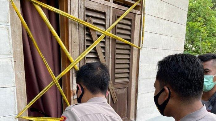 Garis polisi terpasang di luar kamar TKP tewasnya pengantin baru asal Aceh