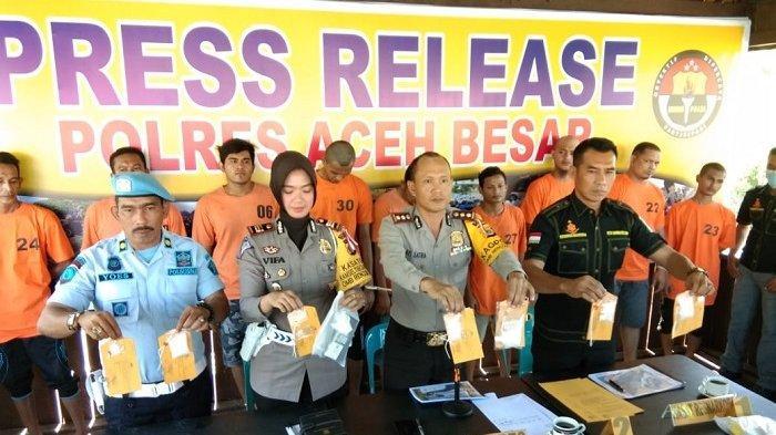 Polres Aceh Besar Tangkap 10 Pengguna dan Bandar Narkoba, Ini Jumlah Sabu yang Ditemukan