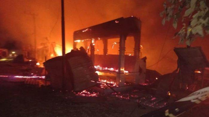 Deretan Kios dan Rumah di Karangbaru Aceh Tamiang Terbakar Saat Dini Hari, Ini Dugaan Penyebab