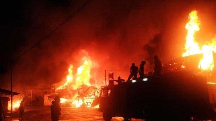 Kebakaran Jelang Sahur, 11 Unit Ruko di Simpang Teritit Bener Meriah Rata dengan Tanah