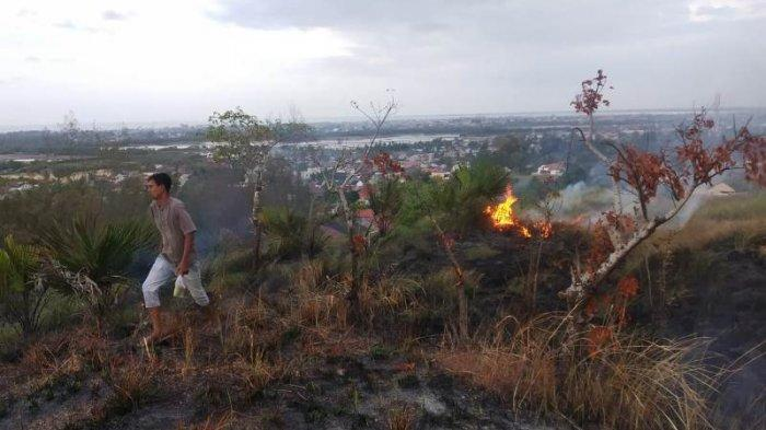 Lagi, Lahan Terbakar di Lhokseumawe, Sudah 7 Kali, Kali Ini Pemadaman Hanya Bisa Manual karena Ini