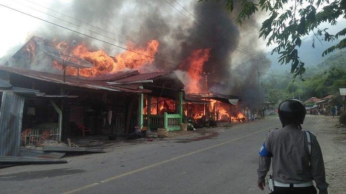 Belasan Rumah Terbakar di Aceh Tenggara