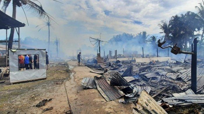 Dampak Kebakaran di Sultan Daulat Subulussalam, 58 Jiwa Warga Kehilangan Tempat Tinggal