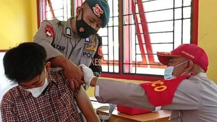 Ratusan Warga Serbu Gerai Vaksin Ditlantas dan Brimob Polda Aceh