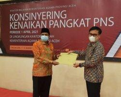 Perdana, Sinergi Kemenag Aceh dan BKN Konsinyering Kenaikan Pangkat PNS