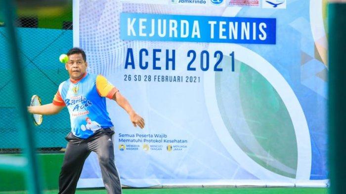 Kejurda Tenis Aceh Diikuti 54 Atlet dari 16 Daerah, Dibuka Aminullah Usman