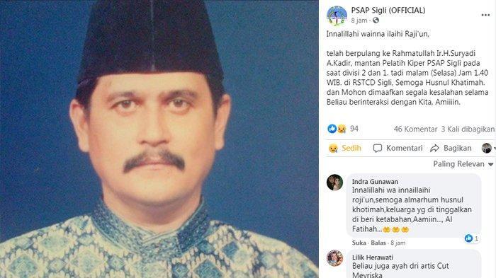 Kenangan Suryadi, Ayah Cut Meyriska Bersama PSAP Sigli, Juara Aceh Tahun 1979 di Stadion Kuta Asan