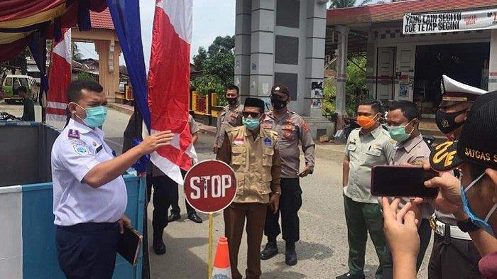 Kadishub Tinjau Pos Penyekatan Lebaran Idul Fitri 1442 H di Perbatasan Aceh Tenggara - Sumut