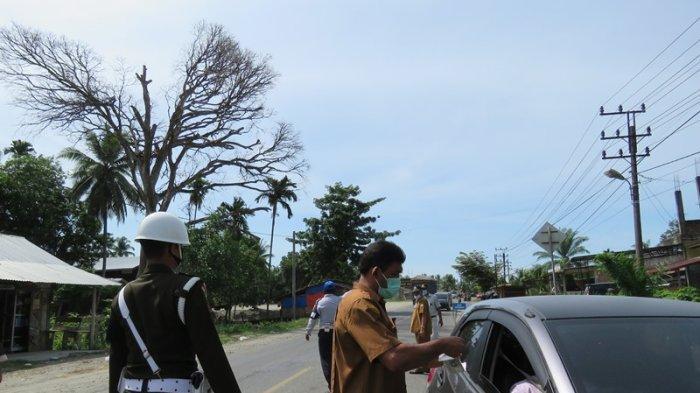 Tim Gabungan di Nagan Raya Razia Kendaraan