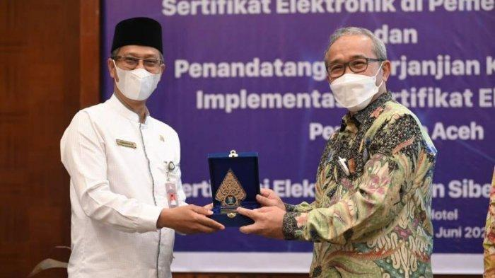 Pemerintah Aceh dan BSSN RI Teken Kerja Sama, Terkait Sertifikat dan Tanda Tangan Elektronik